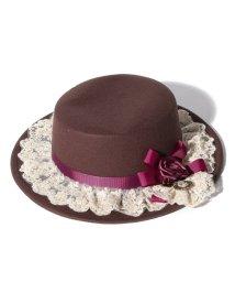 axes femme/巻きバラカメオカンカン帽/502834565