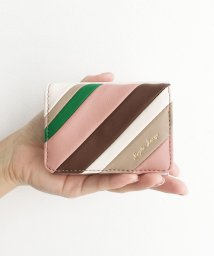 haco!/Legato Largo ストライプの切り替えが華やかな三つ折ミニ財布/502837873