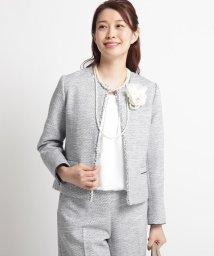 Dessin/【ママスーツ/入学式 スーツ/卒業式 スーツ】ツイードノーカラージャケット/502843718