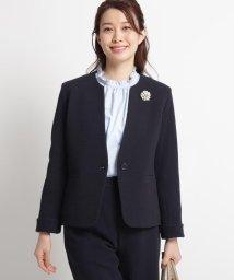 Dessin/【ママスーツ/入学式 スーツ/卒業式 スーツ S~Lサイズあり 洗える】リップルポンチジャケット/502844601