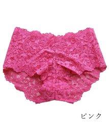 PINK PINK PINK/ヒップハング総レースショーツ/502844678