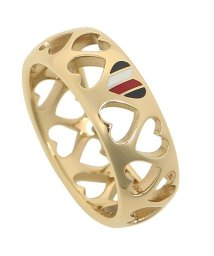 TOMMY HILFIGER/トミーヒルフィガー リング アクセサリー TOMMY HILFIGER 2701094 VDAY PUNCHED HEART RING レディース 指輪 ゴール/502749416