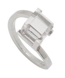 Calvin Klein/カルバンクライン リング アクセサリー CALVIN KLEIN KJ3HMR0401 DARING RING レディース 指輪 シルバー/クリア US6号(約/502749432