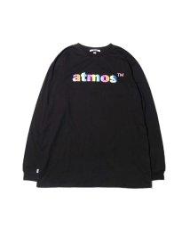 atmoslab/アトモス ロゴ フォイル プリント ロングスリーブ Tシャツ/502841269