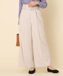 Couture Brooch/【WEB限定プライス/手洗い可】サキソニーベルテッドワイドパンツ/502848082