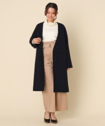 Couture Brooch/【WEB限定プライス】メルトンVノーカラーコート/502848083
