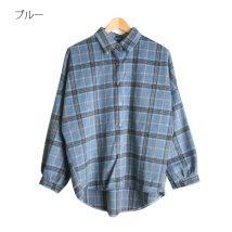 Rejoule/起毛ビッグチェック柄 ビッグシャツ/502848119