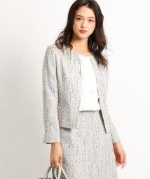 INDIVI/[L]【ママスーツ/入学式 スーツ/卒業式 スーツ】ネオブライトツイードジャケット/502852321
