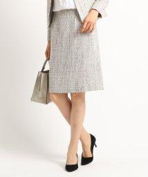 INDIVI/【ママスーツ/入学式 スーツ/卒業式 スーツ】ネオブライトツイードタイトスカート/502852745