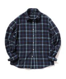 SHIPS MEN/SC: フェザー チェック レギュラーカラー ネルシャツ 2/502853050