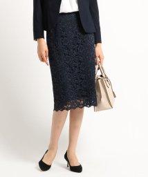 INDIVI/【ママスーツ/入学式 スーツ/卒業式 スーツ】ジャカードレースタイトスカート/502853110