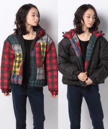 X-girl/PATCHWORK PUFFER JACKET/502835009