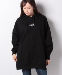 X-girl/EMBROIDERED MILLS LOGO SWEAT HOODIE/502835013