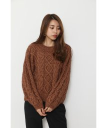 rienda/Big Cable Knit TOP/502853557