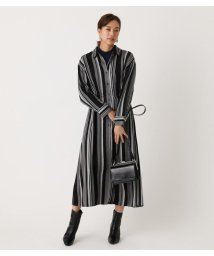 AZUL by moussy/STRIPE BLOUSING SHIRT ONEPIECE/502853590