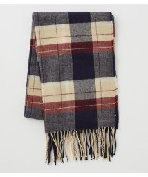 AZUL by moussy/CHECK/STRIPE FRINGE MUFFLER/502853592