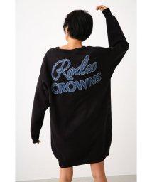 RODEO CROWNS WIDE BOWL/ニットデニムポケットVネックワンピース/502853608