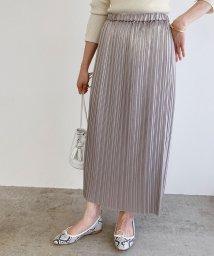 ROPE' mademoiselle/メタリックアコーディオンプリーツスカート/502838979
