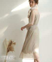 ROPE' PICNIC/【一部店舗限定】【WEB限定】【Mon E'toile】【結婚式にも】チュールプリーツドレス/502848109