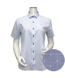 BRICKHOUSE/ウィメンズシャツ半袖形態安定 ワイド衿 ブルー系/502848226