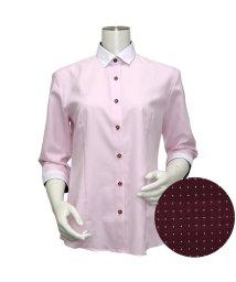 BRICKHOUSE/ウィメンズシャツ七分袖形態安定 ワイド衿 ピンク系/502848228