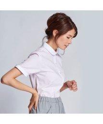 BRICKHOUSE/ウィメンズシャツ半袖形態安定 ラウンド衿 ピンク系(透け防止)/502848238