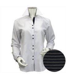 BRICKHOUSE/ウィメンズシャツ長袖形態安定 スキッパー衿 ブラック系/502848281