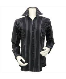 BRICKHOUSE/ウィメンズシャツ長袖形態安定 スキッパー衿 ネイビー系/502848282