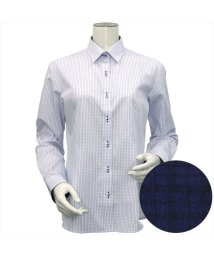 BRICKHOUSE/ウィメンズシャツ長袖形態安定 レギュラー衿 ブルー系/502848287