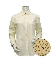BRICKHOUSE/ウィメンズシャツ長袖形態安定 ワイド衿 イエロー系/502848296