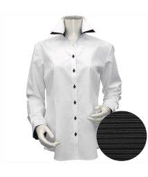 BRICKHOUSE/ウィメンズシャツ長袖形態安定 スキッパー衿 白系(透け防止)/502848306