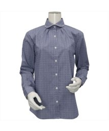BRICKHOUSE/ウィメンズシャツ 長袖 形態安定  ラウンド衿 ネイビー×白ドット/502848340