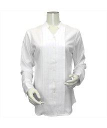 BRICKHOUSE/ウィメンズシャツ 長袖 形態安定 デザインシャツ ヘンリーネック 白×織柄/502848343