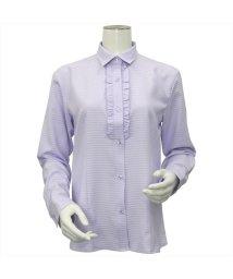 BRICKHOUSE/ウィメンズシャツ 長袖 形態安定 レギュラー衿 パープル×織柄/502848362