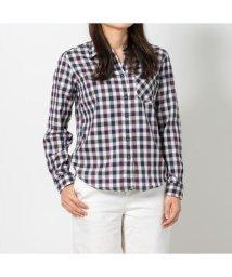 BRICKHOUSE/ウィメンズシャツシャツ 長袖 形態安定 Wガーゼ レギュラー衿 グレー/502848385