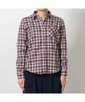 BRICKHOUSE/ウィメンズシャツシャツ 長袖 形態安定 Wガーゼ レギュラー衿 チェック/502848396