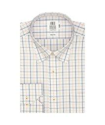 BRICKHOUSE/ワイシャツ長袖形態安定 スナップダウン オレンジ系 スリム/502848476