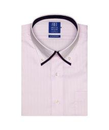 BRICKHOUSE/ワイシャツ 半袖 形態安定 マイタードゥエボットーニ ボタンダウン  ピンク/502848688