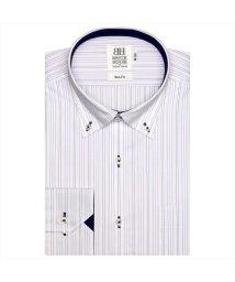 BRICKHOUSE/ワイシャツ長袖形態安定 ボタンダウン パープル系 スリム/502848716