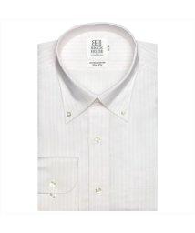 BRICKHOUSE/ワイシャツ長袖形態安定 ボタンダウン綿100% ピンク系 スリム/502848796