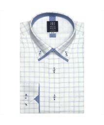 BRICKHOUSE/ワイシャツ長袖形態安定 ボタンダウン ブルー系 (インナー付)/502848797