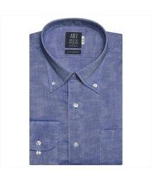 BRICKHOUSE/ワイシャツ長袖形態安定 ボタンダウン綿100% ブルー系/502848799