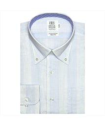 BRICKHOUSE/ワイシャツ長袖形態安定 ボタンダウン綿100% サックス系 スリム/502848800
