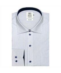 BRICKHOUSE/ワイシャツ長袖形態安定 ワイド サックス系 スリム/502848862
