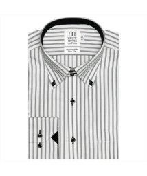 BRICKHOUSE/ワイシャツ長袖形態安定 ボタンダウン綿100% グレー系 スリム/502848907