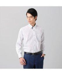 BRICKHOUSE/ワイシャツ長袖形態安定 ボタンダウン綿100% ブラック系/502848912