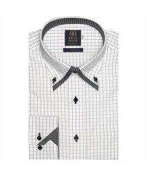 BRICKHOUSE/ワイシャツ長袖形態安定 ボタンダウン綿100% ブラック系/502848915