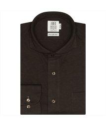 BRICKHOUSE/ワイシャツ長袖形態安定 ホリゾンタルワイド ブラウン系 スリム/502848926