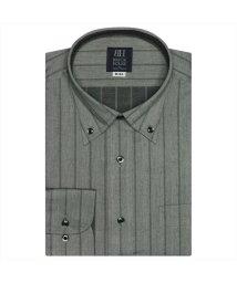 BRICKHOUSE/ワイシャツ長袖形態安定 ボタンダウン グレー系/502848936
