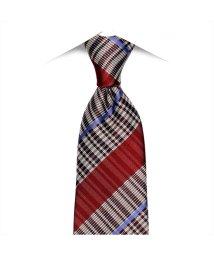 BRICKHOUSE/ネクタイ / ビジネス / フォーマル / 日本製ネクタイ 絹100% エンジ系 ストライプ柄 紗織/502848989